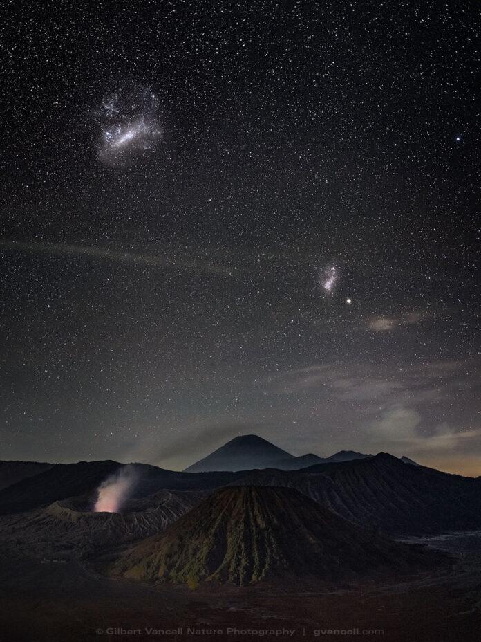 The Magellanic Clouds over Bromo Semeru Tengger National Park | Java | Indonesia.